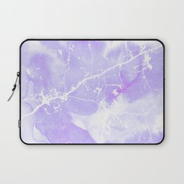 Modern abstract blush violet white marble pattern Laptop Sleeve