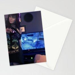 [Gaming Time] Gamer Girl 3D Render Stationery Cards