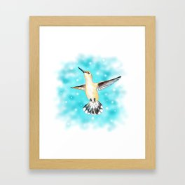 Hummingbird Magic Framed Art Print