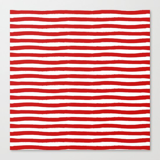 Red Horizontal Stripes Canvas Print
