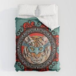 Masquerade Bengal Tiger Mandala Comforters
