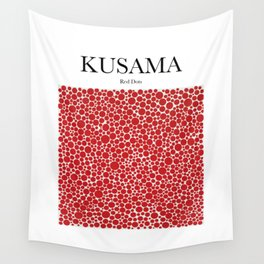 Kusama - Red Dots Wall Tapestry