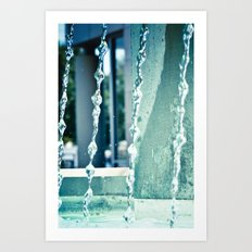 Waterfalling. Art Print