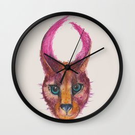 Ink Animals of Africa - Chobe Caracal Wall Clock