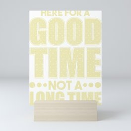 Here for a Good Tome Not a Long Time Mini Art Print