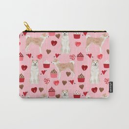 Akita valentines day cupcakes dog breed hearts pet portrait akitas pet friendly Carry-All Pouch