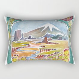 Landscapes Across the US Rectangular Pillow