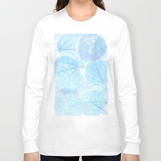 Blue autumn leaves Long Sleeve T-shirt