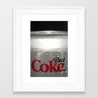 coke Framed Art Prints featuring Coke by Christa Herchek