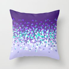 Purple Disintegrate Throw Pillow