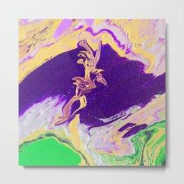 Purple River In The Golden Land 2 Metal Print