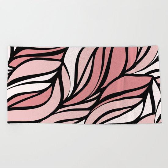 Coral seawing Beach Towel