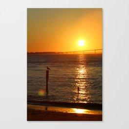 Jersey Shore Sunset-Portrait Canvas Print
