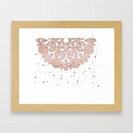 Peaceful showers Framed Art Print