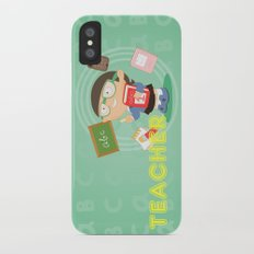 teacher iPhone X Slim Case