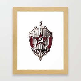 KGB Badge Framed Art Print