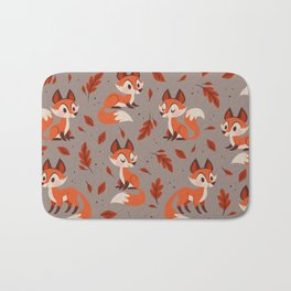 Cute Foxes Bath Mat