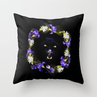 givenchy Throw Pillows featuring GIVENCHY Panther by V.F.Store