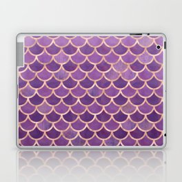 Mermaid Scales Pattern in Purple and Rose Gold Laptop & iPad Skin