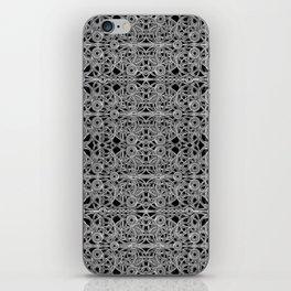 Cyberpunk Silver Print Pattern  iPhone Skin