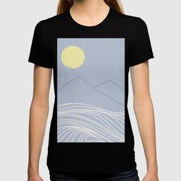 striped ocean art T-shirt