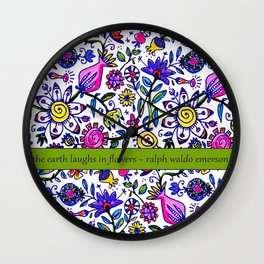the earth laughs ... Wall Clock