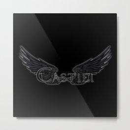 Castiel with Wings Black Metal Print