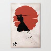 samurai Canvas Prints featuring Samurai by Purple Cactus