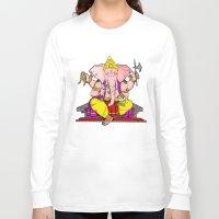 hindu Long Sleeve T-shirts featuring Hindu god by American Artist