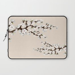 Japanese Sakura Cherry Blossoms (ivory/white) Laptop Sleeve