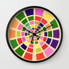 Roue multicolore Wall Clock