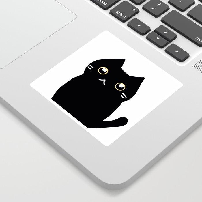 Black cat 589 Sticker