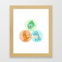 Poké: choose your starter Framed Art Print