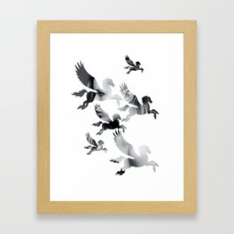 Facing Pegasus Framed Art Print
