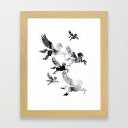 Facing Pegasus Framed Art Print