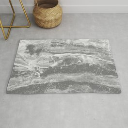 Real Gray Marble Rug
