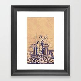 The Skulls of Justice Framed Art Print