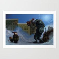 Robots Aint Scary Art Print