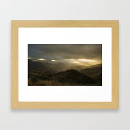 Canaria montana vista Framed Art Print