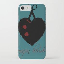 corazon herido iPhone Case