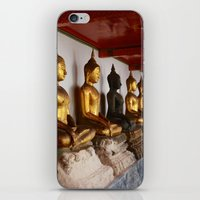 buddah iPhone & iPod Skins featuring Golden Buddah by Avery Mitchell Photos