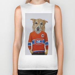 dog in sportwear Biker Tank