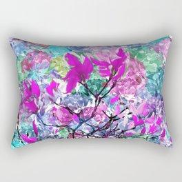 Floral abstract (81) Rectangular Pillow