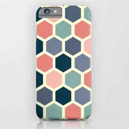 Colorful honeycomb design iPhone Case