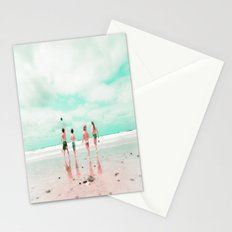 Four & the Beach Stationery Cards