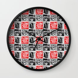 Heart Lung Liver Brain Wall Clock