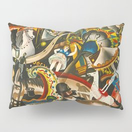 Classical Masterpiece 'The Fair in Utrecht by Pyke Koch Pillow Sham