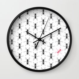 Get Out of Line Wall Clock