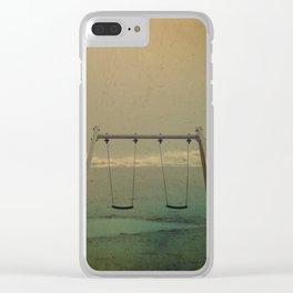 Forgotten swings Clear iPhone Case