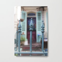 French Quarter Gate Metal Print